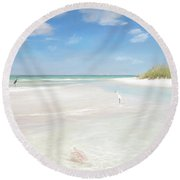 No. Siesta Key, Big Pass, So. Lido Beach Round Beach Towel