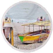 No Swimming - Rishikesh India Round Beach Towel