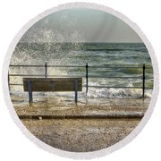 No View Today Round Beach Towel