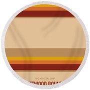 No005 My Breaking Bad Minimal Movie Car Poster Round Beach Towel