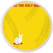 No036 My Monty Python And The Holy Grail Minimal Movie Poster Round Beach Towel