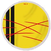 No049 My Kill Bill-part2 Minimal Movie Poster Round Beach Towel