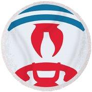 No104 My Ghostbusters Minimal Movie Poster Round Beach Towel