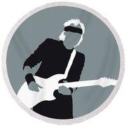 No107 My Mark Knopfler Minimal Music Poster Round Beach Towel