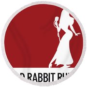 No14 My Minimal Color Code Poster Jessica Rabbit Round Beach Towel