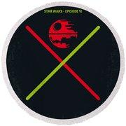 No156 My Star Wars Episode Vi Return Of The Jedi Minimal Movie Poster Round Beach Towel
