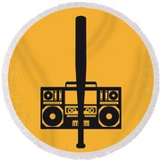 No179 My Do The Right Thing Minimal Movie Poster Round Beach Towel by Chungkong Art