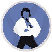 No198 My Barry Manilow Minimal Music Poster Round Beach Towel