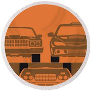 No207-4 My Fast And Furious Minimal Movie Poster Round Beach Towel