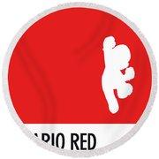No33 My Minimal Color Code Poster Mario Round Beach Towel