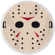No449 My Friday The 13th Minimal Movie Poster Round Beach Towel by Chungkong Art