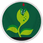 No611 My Little Shop Of Horrors Minimal Movie Poster Round Beach Towel