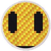 No703 My Pixels Minimal Movie Poster Round Beach Towel