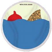 No774 My The Life Aquatic With Steve Zissou Minimal Movie Poster Round Beach Towel