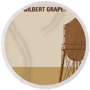 No795 My Whats Eating Gilbert Grape Minimal Movie Poster Round Beach Towel