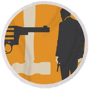 No854 My Payback Minimal Movie Poster Round Beach Towel