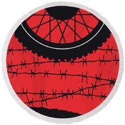 No958 My The Great Escape Minimal Movie Poster Round Beach Towel