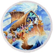 Noahs Ark Round Beach Towel