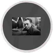 Nobel Prize Winning Writer Albert Camus Unknown Date #2 -2015 Round Beach Towel