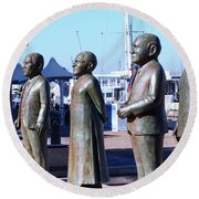 Nobel Square  /  To Honor South Africa's Four Nobel Peace Prize Laureates Round Beach Towel