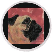 Noble Intentions Round Beach Towel