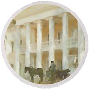 Noble Mansion Of The 19th Century In Russia Round Beach Towel