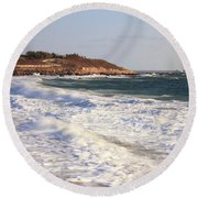 Nobska Point Seascape Round Beach Towel