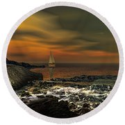 Nocturnal Tranquility Round Beach Towel