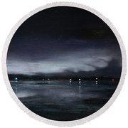 Nocturne, Claytor Lake Round Beach Towel