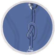 Node On The Water Round Beach Towel