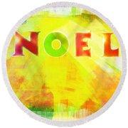 Noel Round Beach Towel by Jocelyn Friis