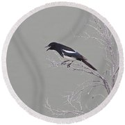 Noisy Magpie Round Beach Towel