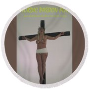Nordic Passion Play Poster Round Beach Towel