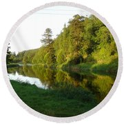 Nore Reflections I Round Beach Towel