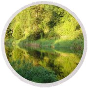 Nore Reflections II Round Beach Towel