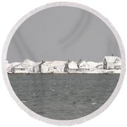Nor'easter Hits Sandy Neck Round Beach Towel