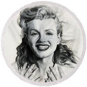Norma Jean Painting Round Beach Towel