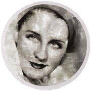 Norma Shearer, Actress Round Beach Towel