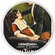 Norma Talmadge In The Probation Wife 1919 Round Beach Towel