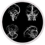 Normal Intracranial Venous System, 3d Ct Round Beach Towel
