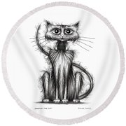 Norman The Cat Round Beach Towel