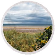 Normandy Beach Round Beach Towel