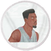 Norris Cole Round Beach Towel by Toni Jaso