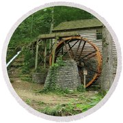 Rice Grist Mill II Round Beach Towel