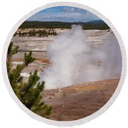 Norris Geyser Basin One Round Beach Towel