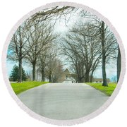 Norristown Farm Park Over The Rise Round Beach Towel