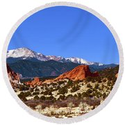 North And South Gateway Rock Round Beach Towel