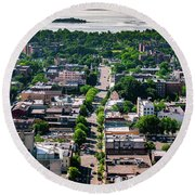 North Ave New Rochelle Round Beach Towel