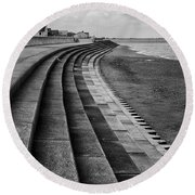 North Beach, Heacham, Norfolk, England Round Beach Towel