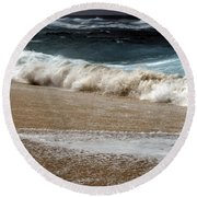 North Beach, Oahu V Round Beach Towel